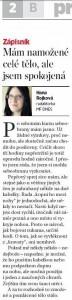 Článek o pražském semináři OnaDnes, Mladá Fronta Dnes